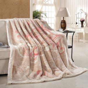 Raschel熱い販売の切り分けられた柔らかく暖かい毛布、切り分けられたアクリル毛布