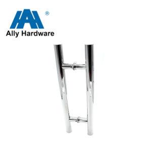 De aço inoxidável em forma de H/porta de madeira/puxador da porta de vidro- (SSH-007)