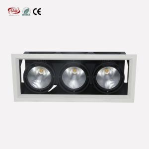 新しいデザインによって引込められる穂軸LEDのグリルランプ3*12W Dimmableの純粋な白3ヘッドDownlight