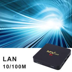 MX Mini-Fernsehapparat-KastenAndroid 7.1 Amlogic S905W Vierradantriebwagen-Kern 64bit 1GB Support 4K HD DES RAM-8GB ROM-2.4GHz WiFi