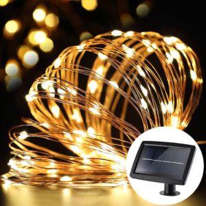 Wasserdichte feenhafte kupferner Draht-Solarzeichenkette-Lichter für Weihnachten