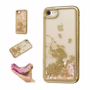 Producto Caliente Venta Por Mayor Galvanoplastia Quicksand TPU Soft Cover Caso Funda para IPhone 7/ 8