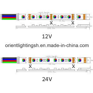 5050 indicatore luminoso di striscia di RGB 14.4W 24V 60LEDs IP20 LED RGB