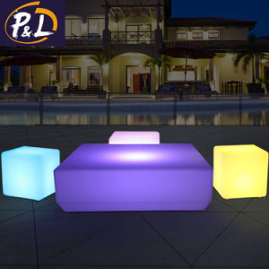 Casa de Jardín iluminan colorida Mesa cubo LED