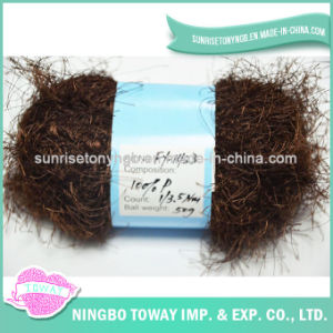 Lado de poliéster macio para tricotar Eyelash fios de penas para o contratante se desgasta