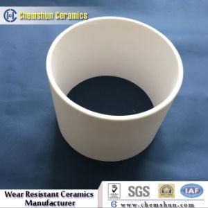 Manicotto puro di ceramica del cilindro dell'ossido di alluminio di industria per la canalizzazione dei residui