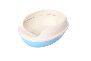 プラスチック猫の洗面所ボックス3つの層の