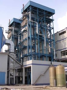 Dell'impianto di potenza infornato carbone