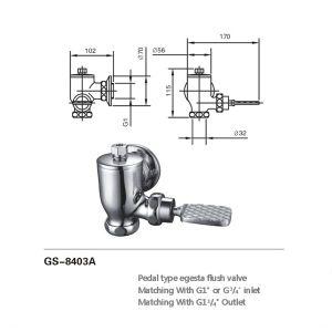 각자 결산 화장실 훌러쉬 밸브 (8403A)