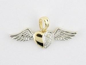 pendente dell'oro giallo 10K con il diamante (LPG1036)