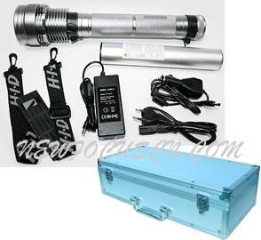 Recargable Li-Battery aluminio HID 28W/35W linterna con la función de Sos (YAX030)