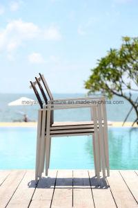 Tessuto di alluminio impermeabile dell'imbracatura del blocco per grafici che pranza la mobilia stabilita del giardino