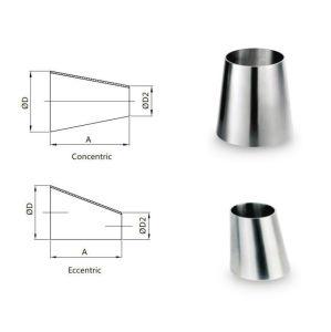 Reductor concéntricos soldada de acero inoxidable accesorios de tubería
