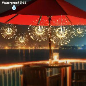 花束の形の花火の装飾的で軽いきらめきStarburstはクリスマスのためのリモート・コントロールの電池式の銅ストリングライトをつける