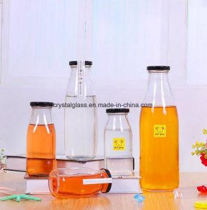 Amostras gratuitas stock de garrafas de suco de leite de vidro