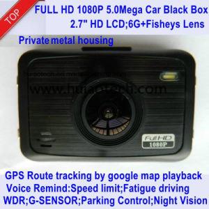 Nuova automobile privata DVR di identificazione 2.7inch di OEM&ODM con il GPS che segue itinerario, macchina fotografica da playback del Google Map, magnetoscopio di Digitahi dell'automobile del registratore automatico di GPS, DVR-2708 del precipitare dell'automobile 5.0mega
