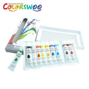 예술 공급 6ml*12PCS 학생 당기기를 위한 알루미늄 관에 있는 비 유독한 아크릴 색깔 페인트