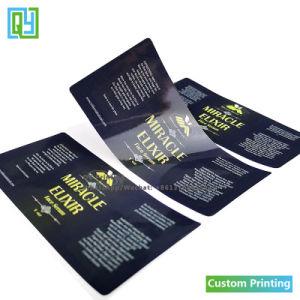 Custom напечатано косметические продукты по уходу за кожей виниловые наклейки
