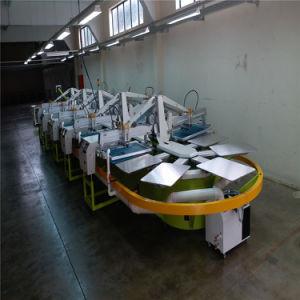 8개의 색깔 8 저속한 치료에 타원형 자동적인 스크린 인쇄 기계