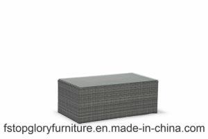 Modernes Freizeit-Rattan-Weidenaufenthaltsraum-Kombinations-Sofa-gesetzte im Freiengarten-Möbel