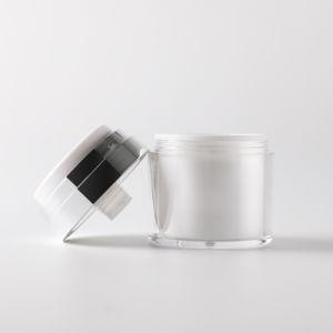新しいデザイン工場価格30mlは装飾的な包装のためのアクリルの空気のないポンプクリームの瓶30gを空ける