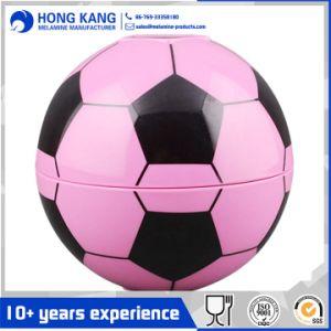 Forma de fútbol de melamina de 13cm ensaladera