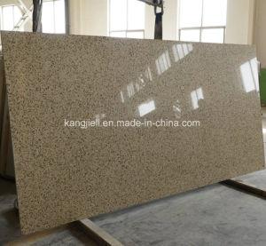 二重カラー2cm人工的な大理石によって固められる水晶石の平板