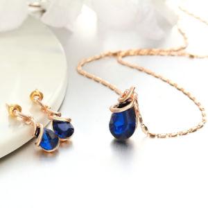 Mode Bijoux pour les femmes meilleur cadeau magnifique avec Crystal Choker en alliage de zinc Ensemble de collier
