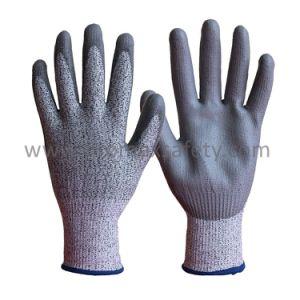 Anti Cortar Hppe revestido de látex e resistentes ao corte luvas de trabalho