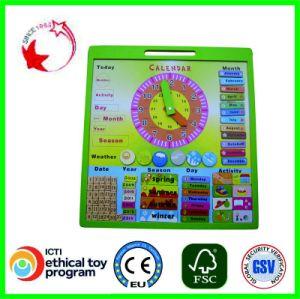 Calendário de madeira Puzzle educativos brinquedos de madeira (33244-1)