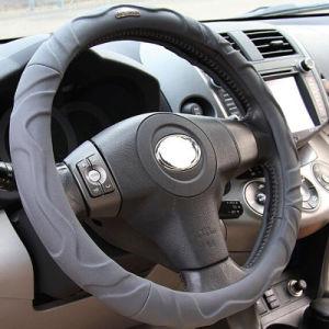 O PVC Lambskin Leather carro preto capas de Volante 38mm