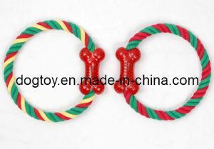 Bone di gomma con Colourful Rope Pet Toy