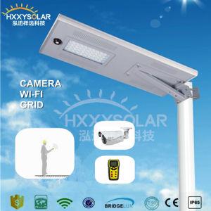 Nouveau cycle Titulaire 50W Rue lumière LED solaire avec capteur