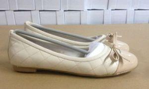 Plat de PU Beige Chaussures femmes