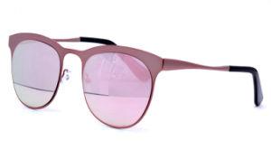 最新の金属のサングラスはミラーの金属猫3のUV400サングラスのあたりで2017年卸し売りする