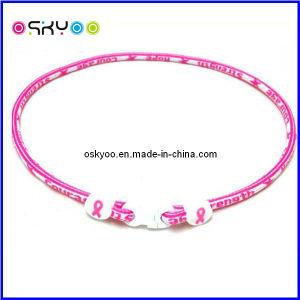 Pink Breast Cancer Awareness Titanium Sports Necklace und Bracelet denken