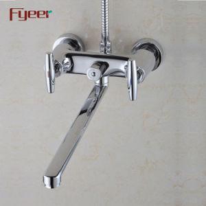 Fyeer двойной обработки длинного лотка латунные ванной под струей воды с помощью перепускной
