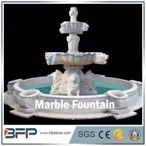 Haut de gamme fontaine en marbre blanc--paysage sculpté à la main ...