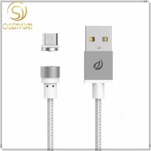 Cavo magnetico rotondo del USB del metallo del caricatore di Wsken per Samsung Apple Huawei