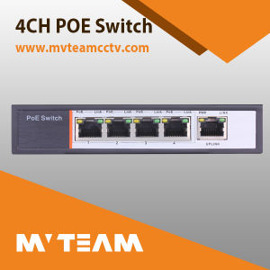 Commutateur Poe 4CH pour la caméra vidéo IP transmettant (MVT-E04)