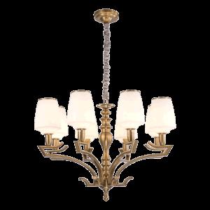 Novo design do lustre de ferro com sombra de vidro para iluminação de casa (SL2276-8)
