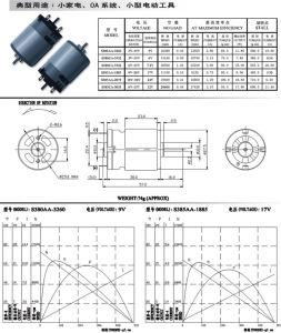 24V DC Espejo retrovisor auto eléctrico Motor de imán permanente para el motor de la cama facial