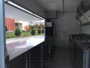 Побритый сандвичем трейлер замораживателя витрины индикации льда
