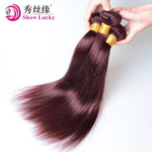 専門の製造者99j#バーガンディの赤いバージンの毛はモンゴルの人間の毛髪を束ねる
