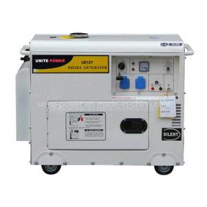 Unir a fonte de 5kVA casa portátil Usar conjunto de gerador diesel silenciosa (UE6500T)