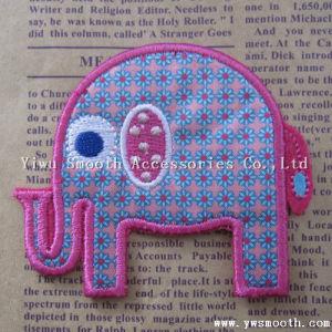 Zone su ordinazione del ricamo dell'elefante di modo della fabbrica all'ingrosso per la decorazione dell'indumento