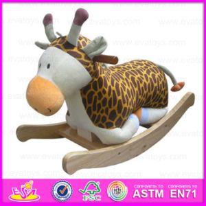 2015 Madeira recheadas Rocking Animal para crianças com brinquedos, Peluche animal para as crianças, balançando brinquedos de madeira brinquedo para o Bebé Animal Wj277564