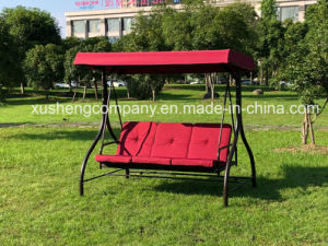L'extérieur Jardin moderne de 3 places Balançoire avec 2 oreillers