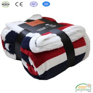 Coperta di lusso del panno morbido di inverno della manovella di Sherpa per l'accumulazione della casa del sofà
