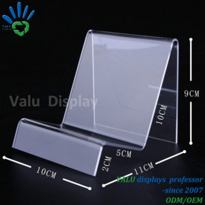 Supporto acrilico materiale acrilico di punto del banco di mostra del raccoglitore per il raccoglitore